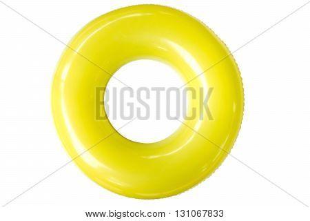 Colorful swim ring isolated on white background.