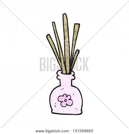 freehand textured cartoon fragrance oil reeds