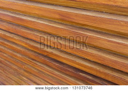 Design Of Wood Wall Texture Background, Wooden Stick Varnish Shiny For Decoration Interior