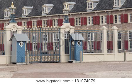 Apeldoorn, Holland, March 6, 2016: Front View Of The Royal Palace Het Loo