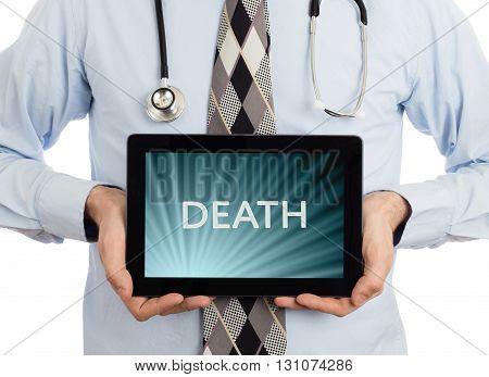 Doctor Holding Tablet - Death