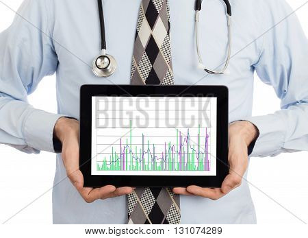 Doctor Holding Tablet - Graph