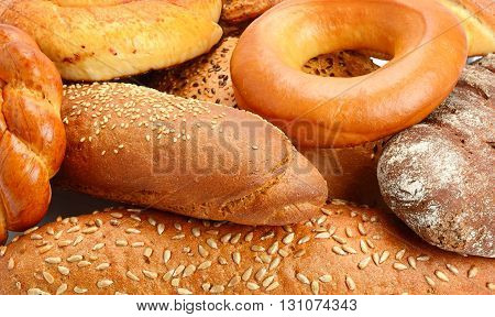 A background baked goods and pastry products