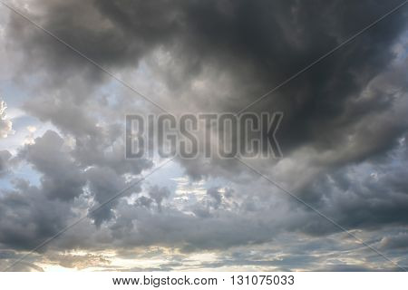 Cloud On Sunset Dramatic Sky, Image Climate Weather Background