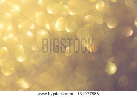 Gold Background, Abstract Golden Bokeh Light Celebration Background