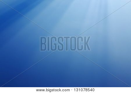 Abstract White Light On Blue Background