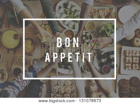 Bon Appetit Buffet Cuisine Culinary Catering Tasty Concept