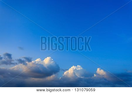 Clouds On Clear Blue Sky