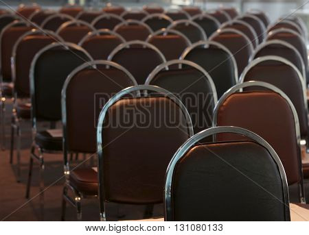Empty meeting or conference room prepare for staff at office.