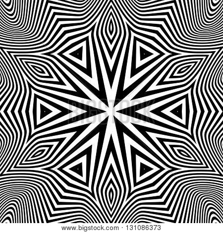 Abstract Striped Background. Black and White Vector Illustration.