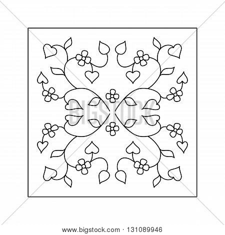 Abstract  floral pattern with small flower and  leaf. Decorative element.