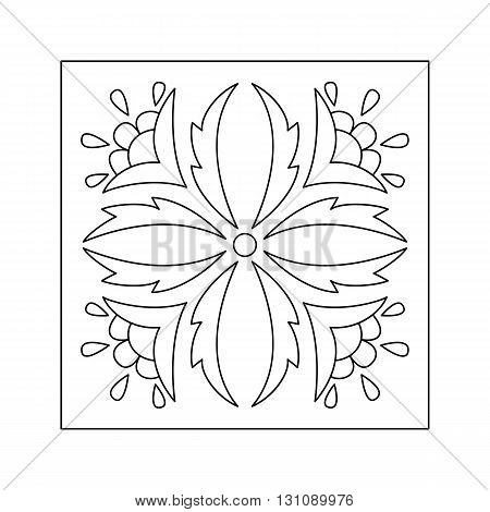 Abstract  floral pattern with leaf and flower. Decorative element.