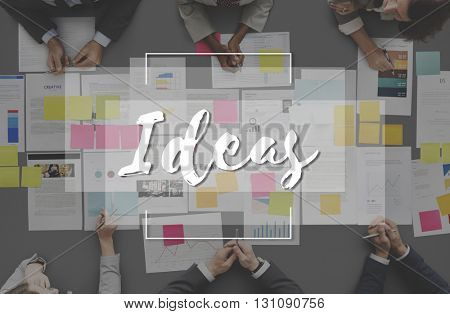 Imagine Create Curate Conceptualize Ideas Concept