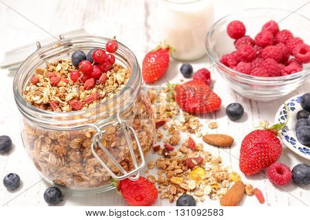muesli and berries