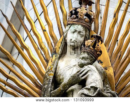 San Michele in Foro medieval church detail. Tuscany Italy