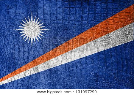 Flag Of Marshall Islands, On A Luxurious, Fashionable Canvas