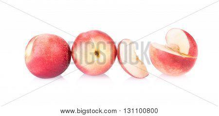 Nectarine fruit isolated on white background .