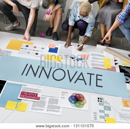 Innovate Aspirations Invention Fresh Ideas Concept