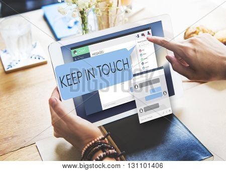 Keep in Touch Follow Communication Connect Concept
