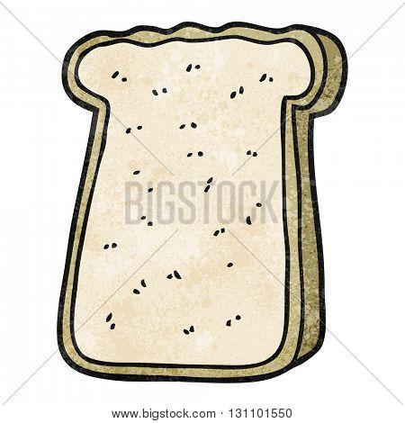freehand textured cartoon slice of toast