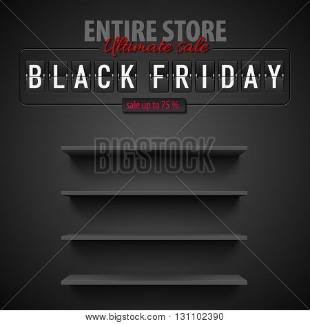 Black Friday discounts increasing consumer growth. Empty shelves