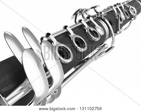 Clarinet. High quality photo realistic 3d render