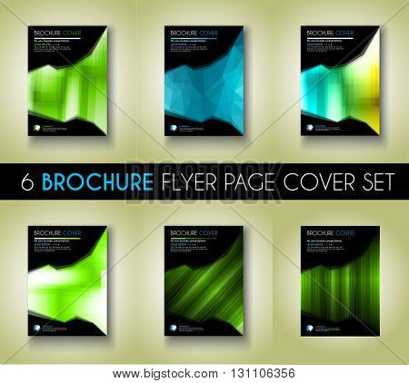 Set of  Brochure template, Flyer Design or Depliant Cover for business presentation and magazine covers, annual reports and marketing generic purposes.