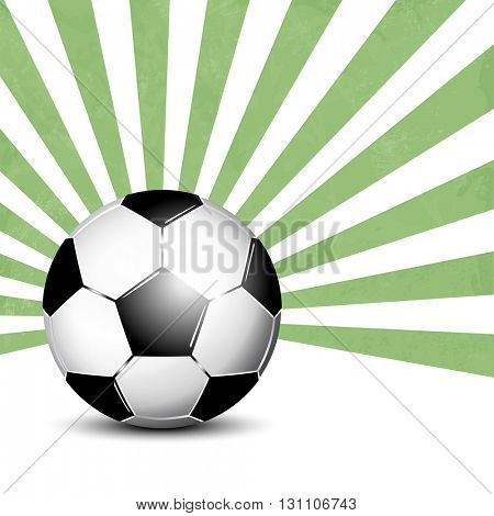 Soccer ball background with rays
