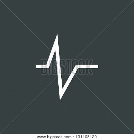 Pulse Icon In Vector Format. Premium Quality Pulse Symbol. Web Graphic Pulse Sign On Dark Background