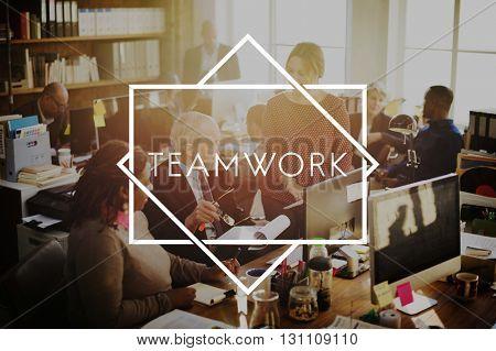 Teamwork Agreement Alliance Collaboration Unity Concept