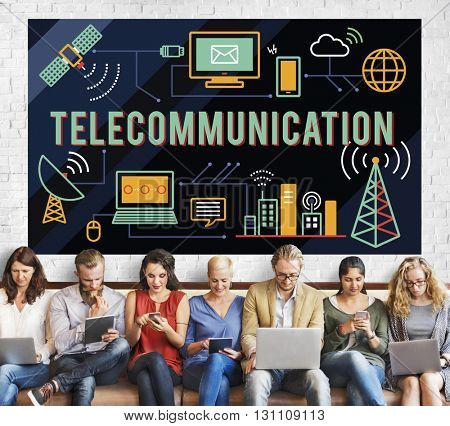 Telecommunication Global Communications Connection Network Concept