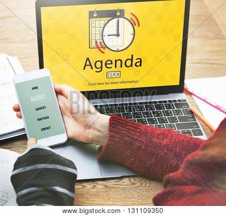 Agenda Appointment Activity Plan Concept