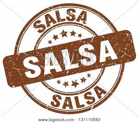 Salsa Brown Grunge Round Vintage Rubber Stamp.salsa Stamp.salsa Round Stamp.salsa Grunge Stamp.salsa