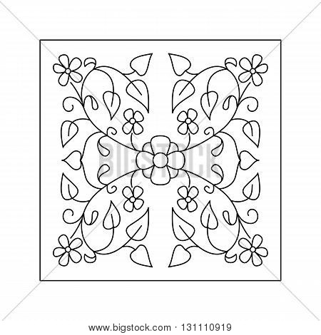 Abstract  floral pattern with flowers and leaves. Decorative element.