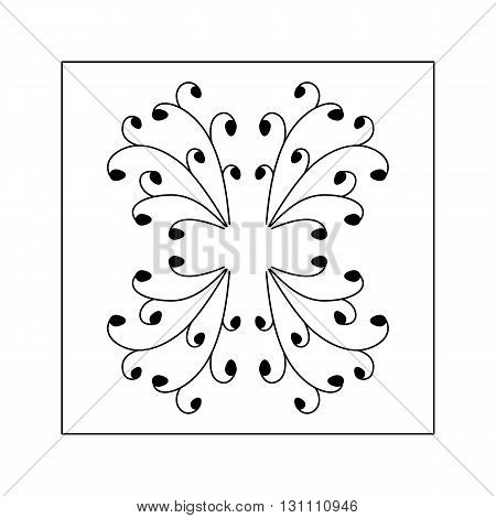 Abstract hand drawn pattern with dots. Decorative element.