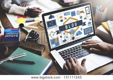 Blog Blogging Online Internet Concept