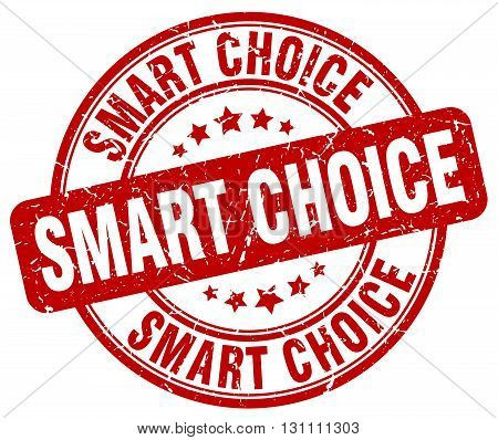 Smart Choice Red Grunge Round Vintage Rubber Stamp.smart Choice Stamp.smart Choice Round Stamp.smart