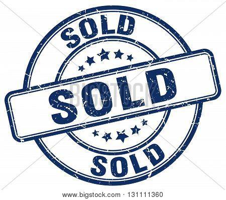 Sold Blue Grunge Round Vintage Rubber Stamp.sold Stamp.sold Round Stamp.sold Grunge Stamp.sold.sold
