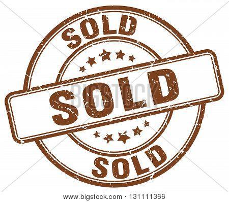 Sold Brown Grunge Round Vintage Rubber Stamp.sold Stamp.sold Round Stamp.sold Grunge Stamp.sold.sold
