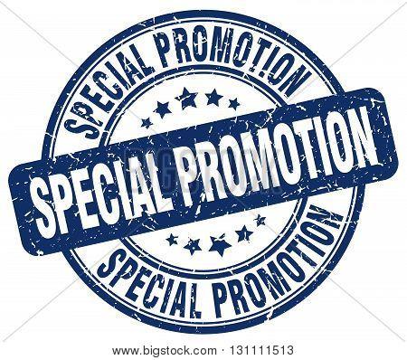 Special Promotion Blue Grunge Round Vintage Rubber Stamp.special Promotion Stamp.special Promotion R