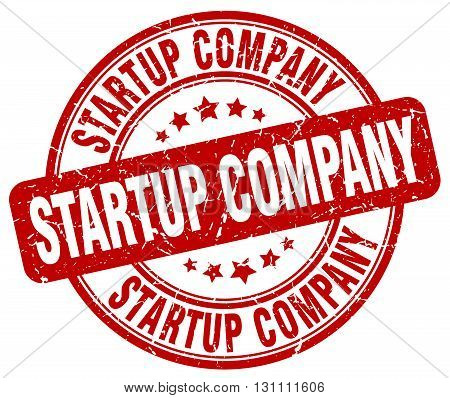 Startup Company Red Grunge Round Vintage Rubber Stamp.startup Company Stamp.startup Company Round St