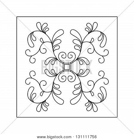 Abstract   floral pattern with leaves. Decorative element.