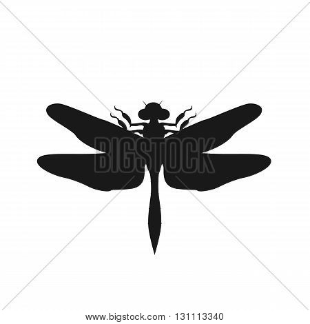 Silhouette of a dragonfly black. Vector dragonfly isolated on white background