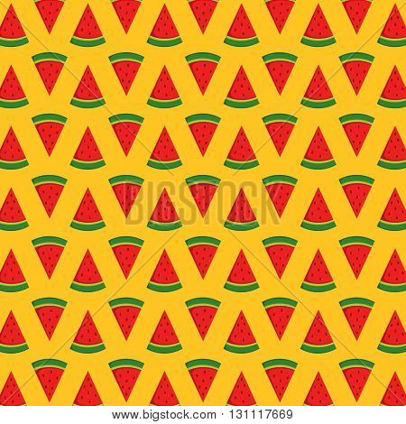 a vector of cute watermelon pattern background