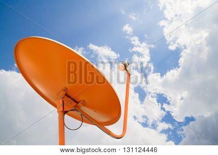Satellite dish A beautiful blue sky .