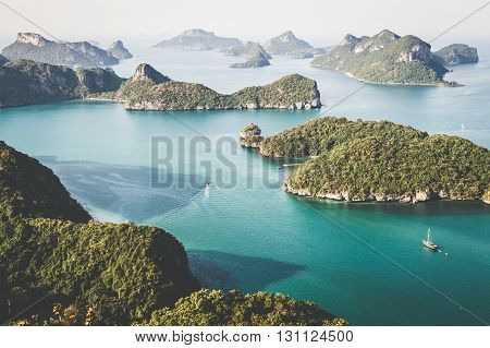Amazing view of the Ang Thong National Park, Thailand