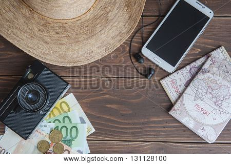 Other Travel Article on a wooden background
