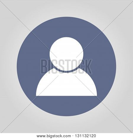 User icon vector. Flat design style eps 10