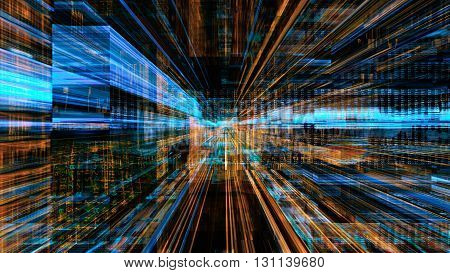 Conceptual futuristic technology digital light abstraction. High resolution illustration 10902.
