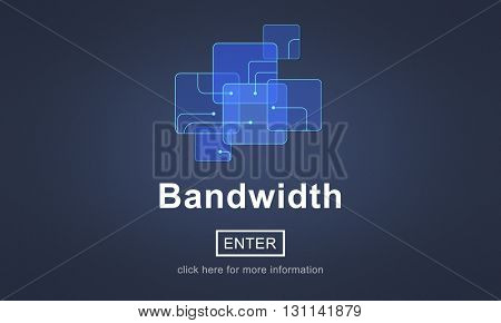 Bandwidth Internet Network Technology Device Concept